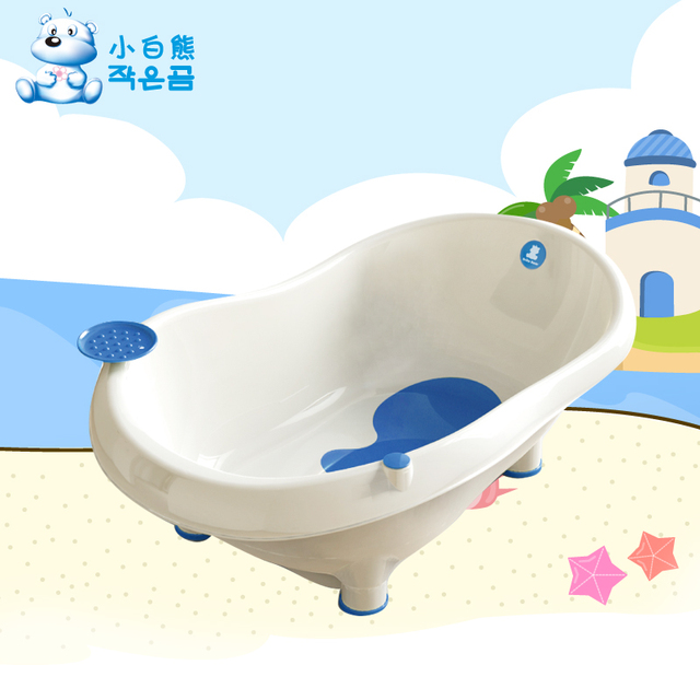 Pequeño oso pp material de bebé bañera bebé bañera lavabo del baño infantil puick digitales