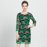 2017 New Womens Elegant Delicate Floral Lace Casual Party Evening Bodycon Special Occasion Bridemaid Mother Of