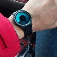 GeekThink Concept Northern Lights Men Women Watches Top Luxury Brand Stainless Steel Mesh Band Quartz Wristwatch