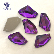 YANRUO #3256 All Sizes Amethyst Galactic Sew On Strass Crystal Rhinestone Flat Back Glass Sewing Stones For Dress all sizes clear crystal white rectangle shape sew on rhinestones glass strass sewing crystal stones for dress making accessories