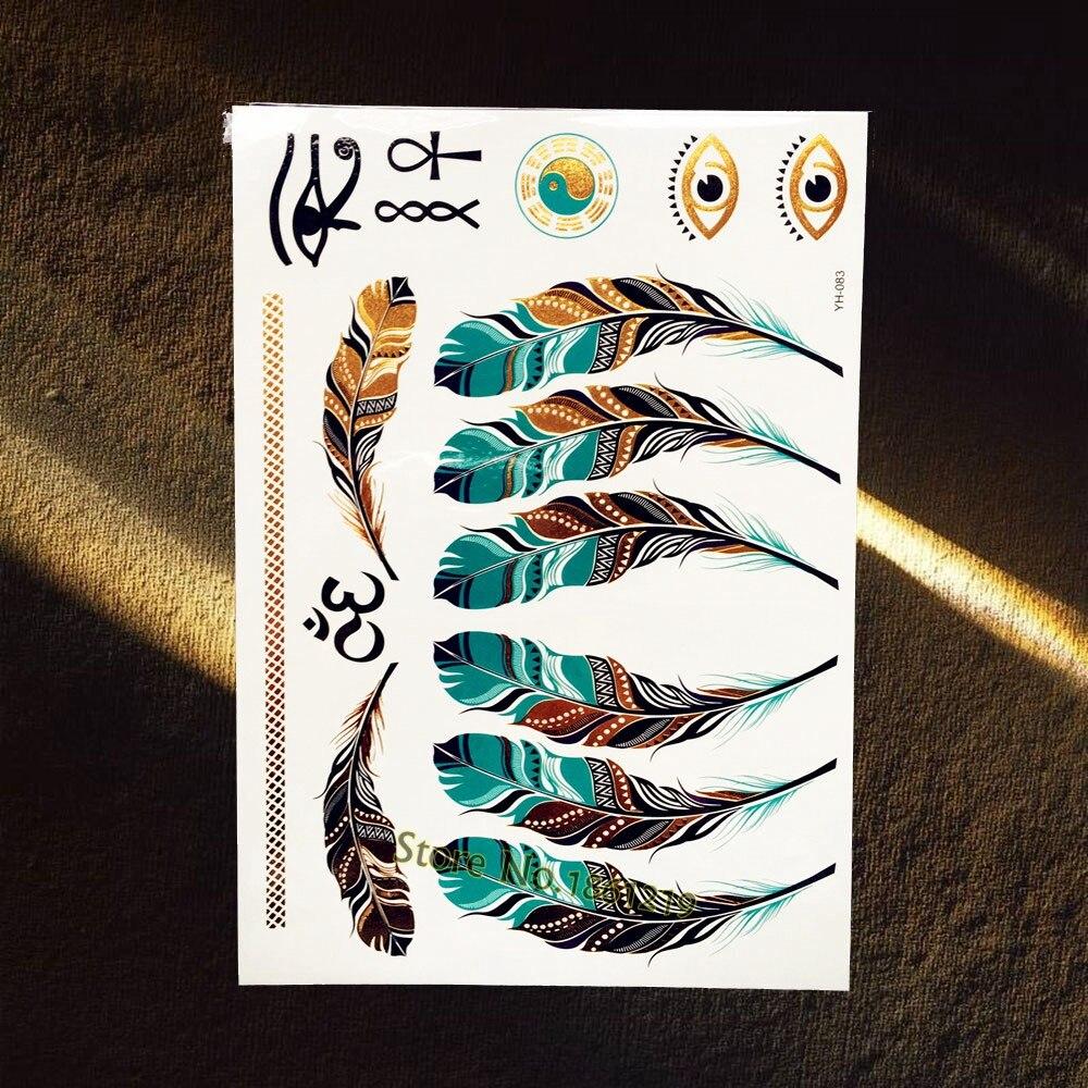 Aliexpress.com : Buy 1PC Gold Temporary Tattoos Indian