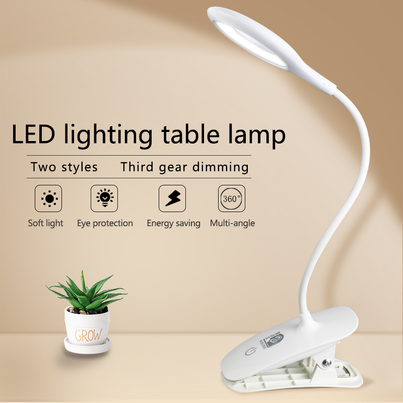 Led Desk lamp desk light USB Touch Table Lamp with Clip Flexible Foldable Bed Reading Book Night Light 3 Modes Eye Protection