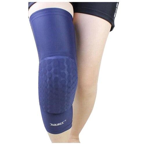 Aolikes 1pcs Hex Sponge Basket ball Sports Knee Pads Leg Compression Sleeve Collision Avoidance Kneepad Long section