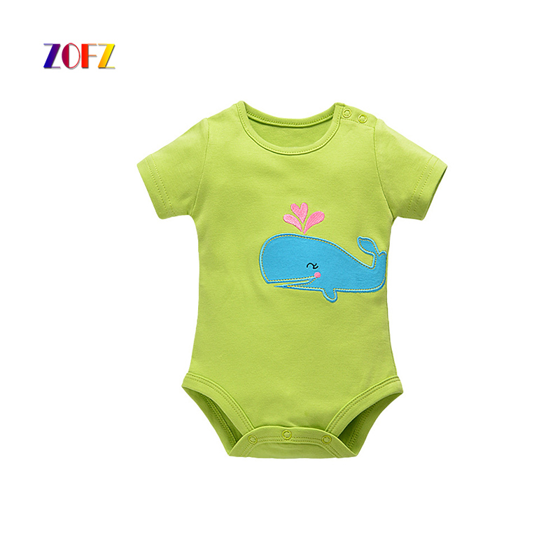 ZOFZ new baby girl clothes short sleeve baby costume cotton overalls soft body clothes for babies character romper for newborns
