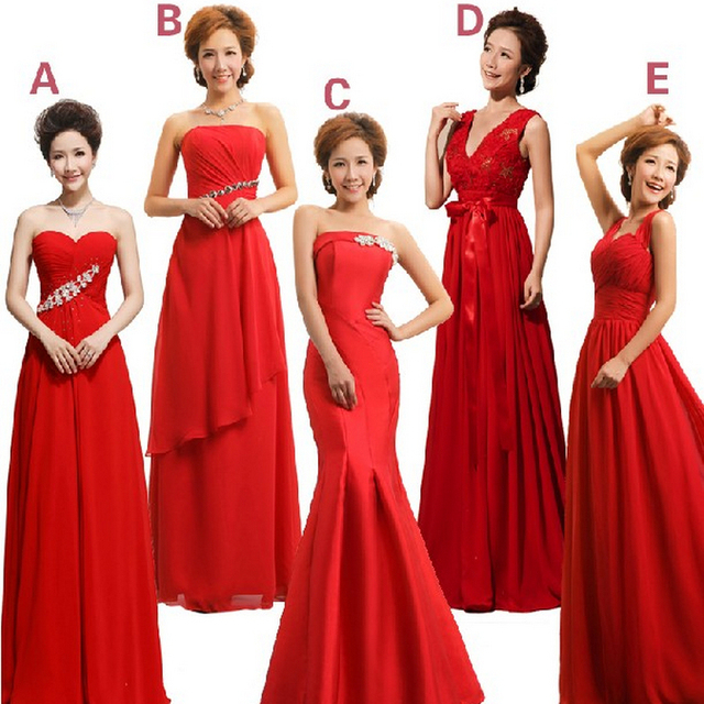 4b2c3b8686 ladies red chiffon sexy bridemaids girls dinner dresses 10 latest gown  design for party and wedding