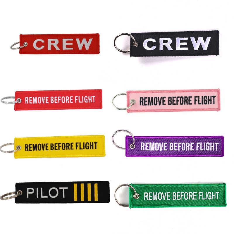 POMPOM Crew Sleutelhanger voor Luchtvaart Geschenken OEM Motorfiets Sleutelhangers llaveros Bagage Crew Tag Stitch Sleutelhanger ketting Mode Sieraden