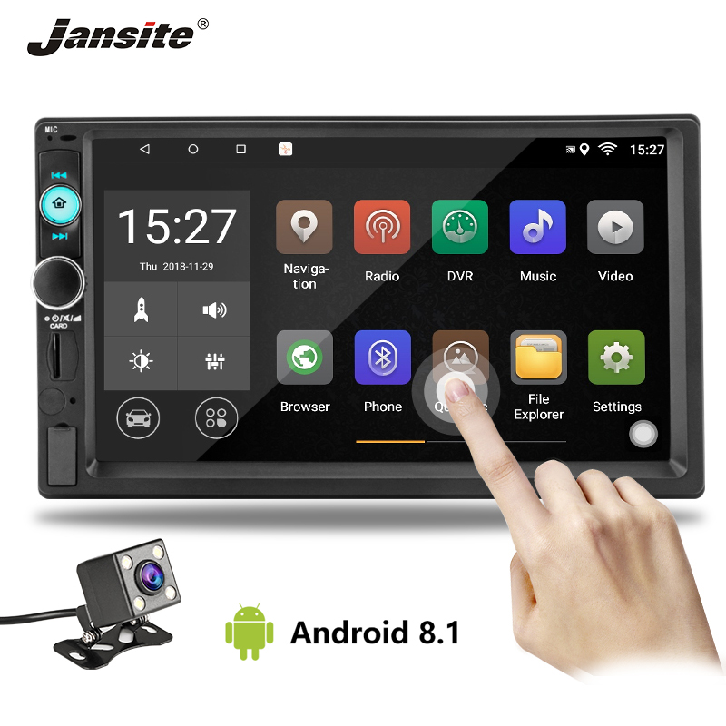 Jansite 7 2 din Car Radio Android 8 1 player DVD digital 1080P Touch screen car