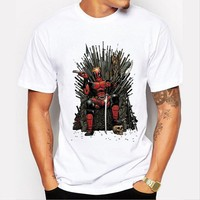 PH 2016 New Arrival Cool Deadpool Minions On The Iron Throne T Shirt Game Of Thrones