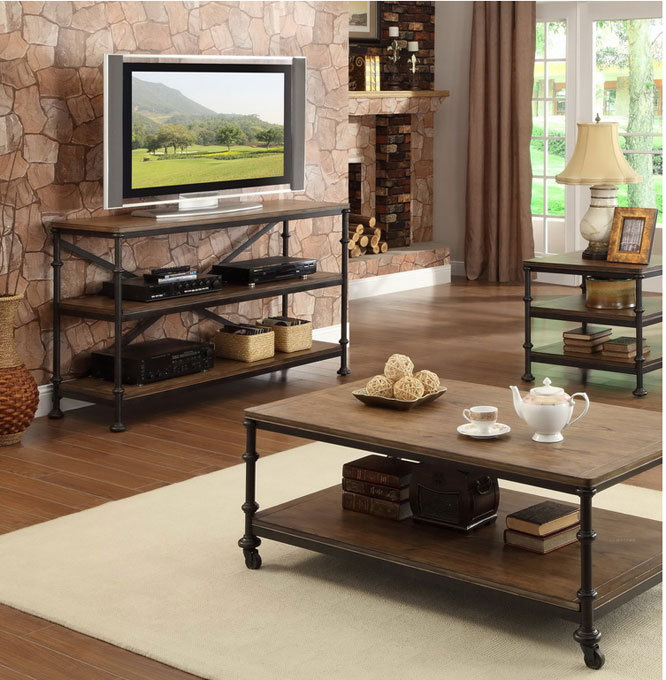Pays d'amérique forgé bois de fer rétro chambre meuble TV