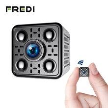 FREDI мини беспроводной IP камера 2.0MP 1080 P камера беспроводной связи wifi инфракрасный ночное видение обнаружения движения видеонаблюдения