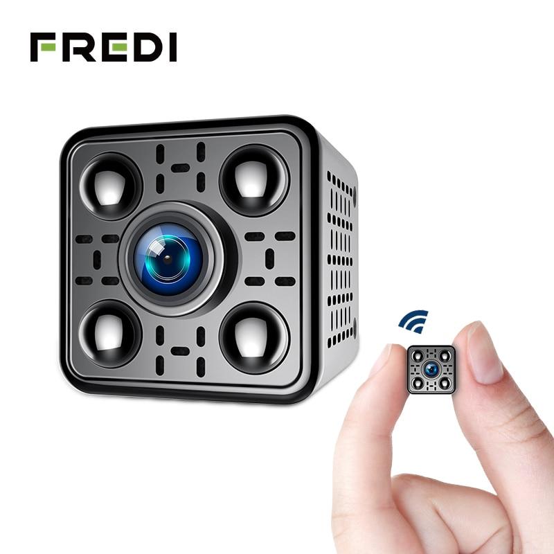 FREDI Mini cámara IP inalámbrica 2.0MP 1080 P cámara de seguridad WiFi visión nocturna infrarroja detección de movimiento cámara de vigilancia CCTV