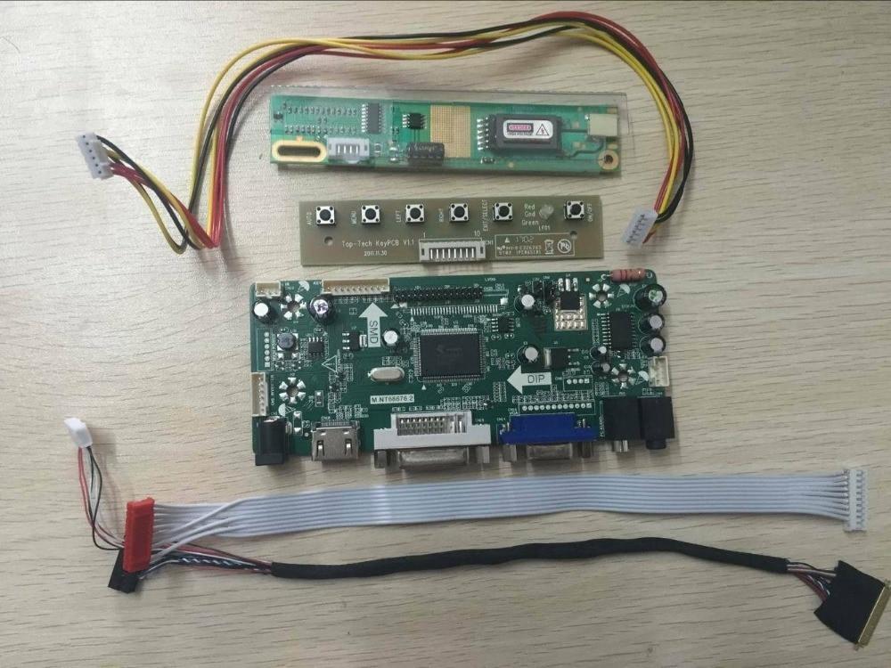 Latumab HDMI+DVI+VGA+Audio Controller Driver Board Inverter For LTN154X3-L06 1280X800   Free Shipping