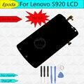 100% testado original brand tft de 1280x720 para lenovo s920 display lcd com tela de toque digitador assembléia