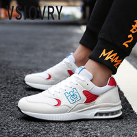 VSIOVRY Spring Men Casual Shoes 2018 Fashion Air Cushion Sneakers For Male Breathable Soft Flats Shoes