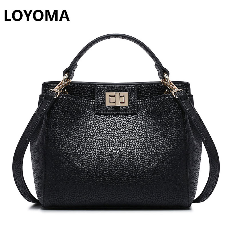 2016 Fashion Women Peekaboo Bag Handbags Litchi Ladies ...