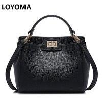 2016 Fashion New Women Leather Handbags Litchi Cat Ladies Messenger Bag Crossbody Bag Brand Designer Tote