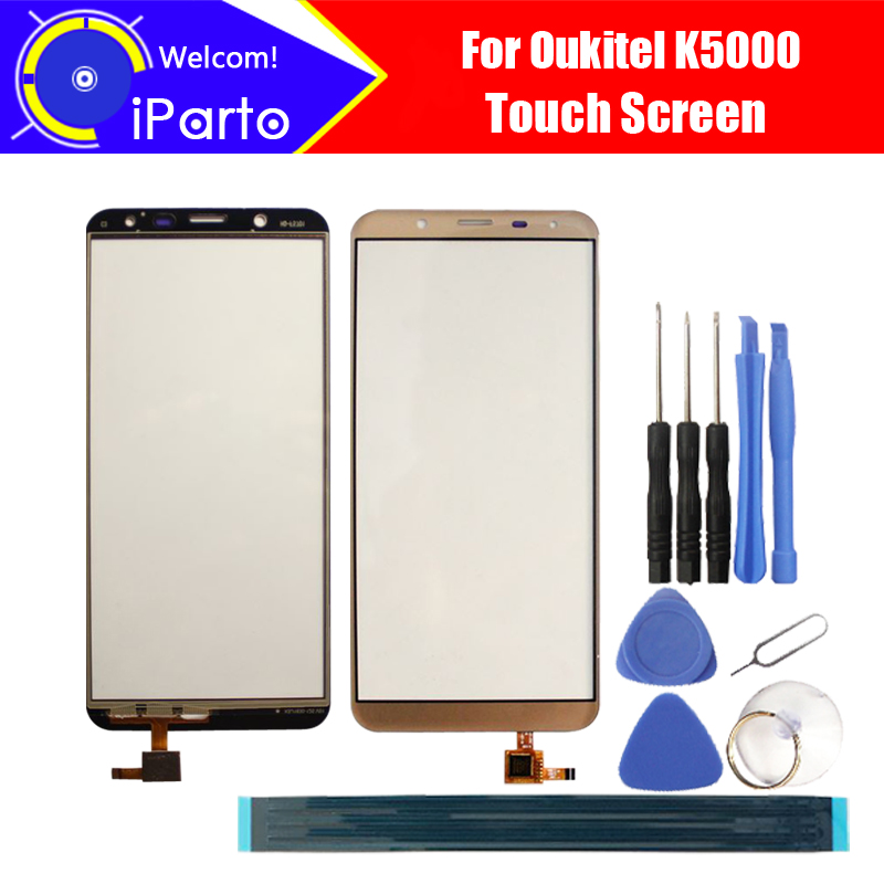 5.7 pouce Oukitel K5000 Écran Tactile En Verre 100% Garantie D'origine Nouveau Panneau de Verre Écran Tactile Pour K5000 + outils + adhésif