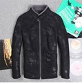 2015 New import Men's Sheep superficial knowledge integrated locomotive Genuine Leather Collar Slim jacket JSH559