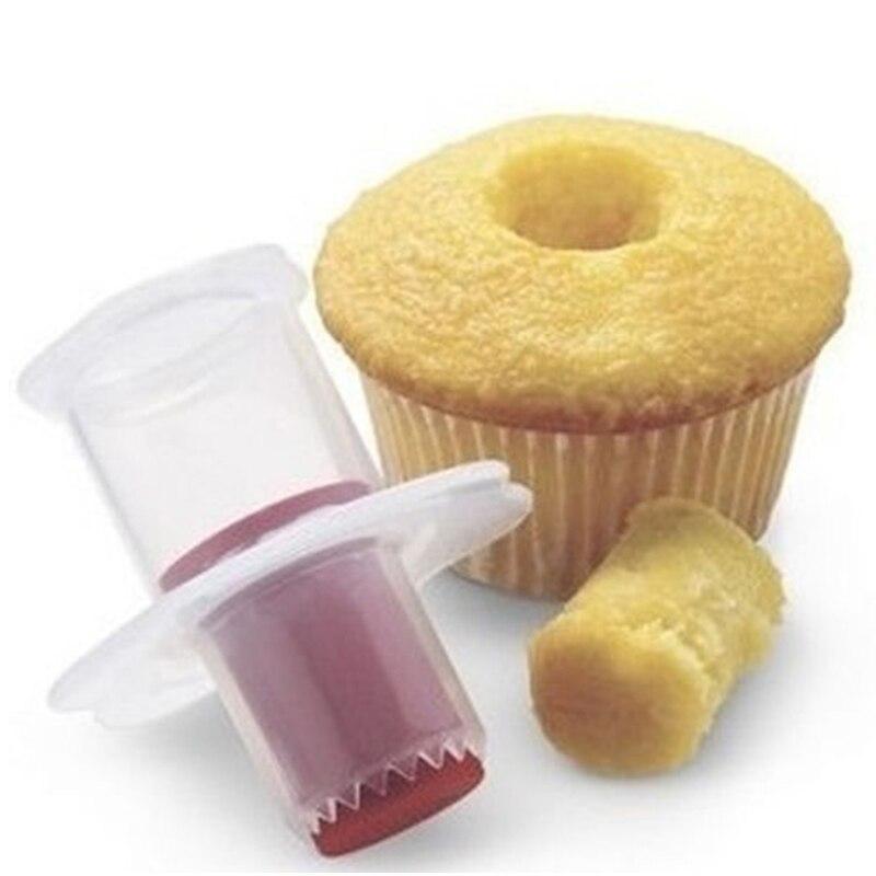 Práctico gadgets de cocina cupcake cake corer del cortador del émbolo pasteles q