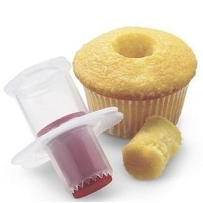 Praktiska virtuves sīkrīki Cupcake kūka Corer virzuļa griezējs mīklas Dekorēšanas dalītāja pelējuma radošā DIY kūka veidne D0079