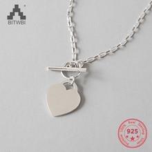 100% 925 Sterling Silber Eliza Weiß Münze Anhänger Kurzen Schlüsselbein Halskette Kette Ornament