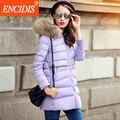 Fashion Women Down Coat Winter 2016 New Hot Sale White Eiderdown Coats Femal Large Fur Collar Ladies Hooded Long Jacket Y160