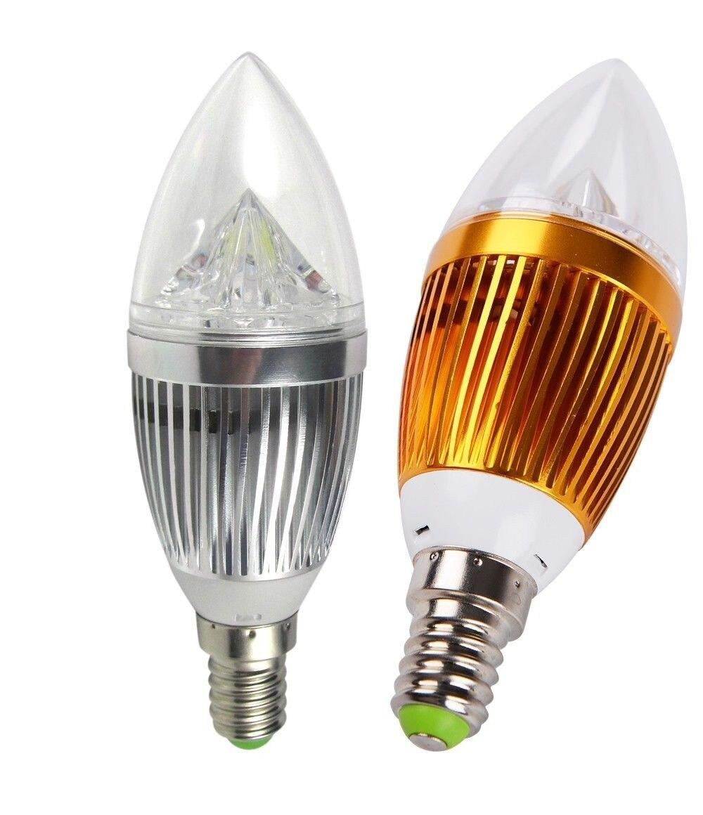 LED Candle Light E14 9W 12W 15W Dimmable 110V 220V Led Bulb Lamp Cool White / Warm White Spotlight LED LIGHTIG Silver/Golden