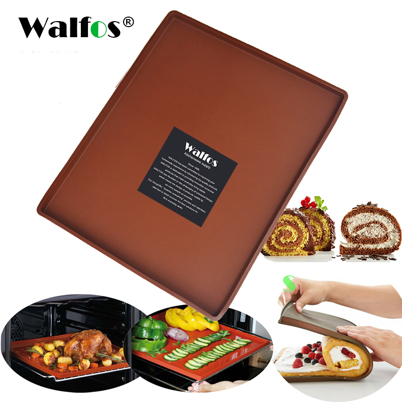 WALFOS FOOD GRADE Silicone Baking Mat DIY Multifunction Cake Pad Non Stick Oven liner Swiss Roll Pad Bakeware Baking Tools