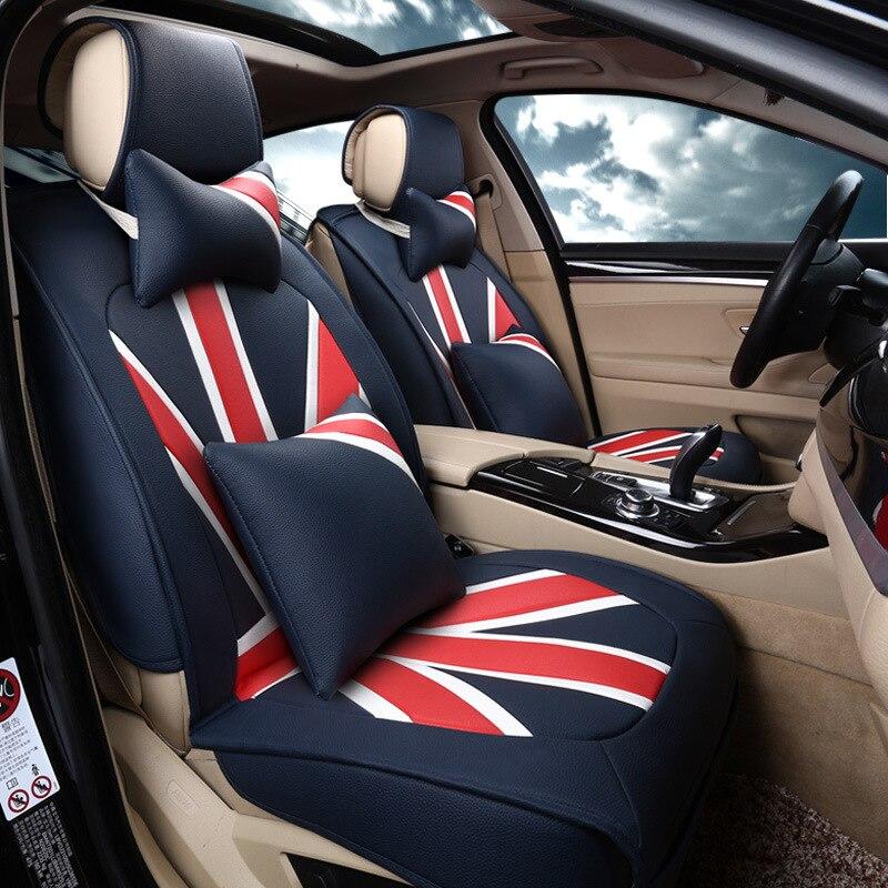 Marque de mode PU en cuir universel siège d'auto couverture dans Automobiles Siège Couvre de Automobiles et Motos