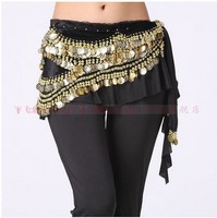 New Style Belly Dance Costumes Velvet Gold Coins Belly Dance Hip Scarf For Women Belly Dancing