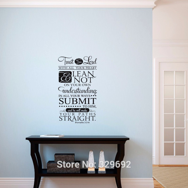 Trust In The Lord Wall Decal   Proverbs 35 6 Decal Vinyl Lettering    Scripture