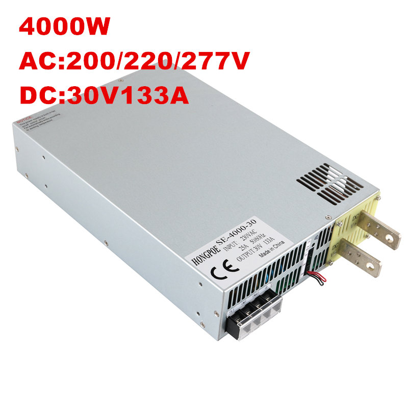 4000W 30V 133A DC 0-30v power supply 30V 133A AC-DC High-Power PSU 0-5V analog signal control SE-4000-30 3500w 30v 116a dc 0 30v power supply 30v 116a ac dc high power psu 0 5v analog signal control se 3500 30