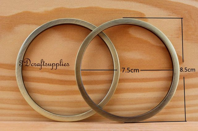 metal O rings O ring purse ring connector anti brass alloy 75 mm 3 ...