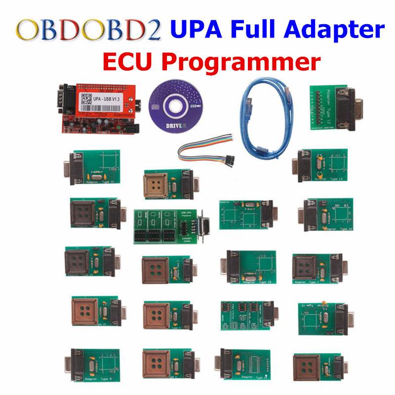 ECU Programmer Newest UPA USB With Full Adaptors Auto ECU Chip Tunning Tool Support Multi-brand Cars Diagnostic Tool Free Ship 2017 newest ktag v2 13 firmware v6 070 ecu multi languages programming tool ktag master version no tokens limited free shipping