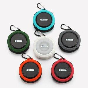 Image 5 - KOOYUTA yeni açık spor su geçirmez IP65 bluetooth hoparlör stereo taşınabilir emme Handsfree yürüyüş bisiklet seyahat