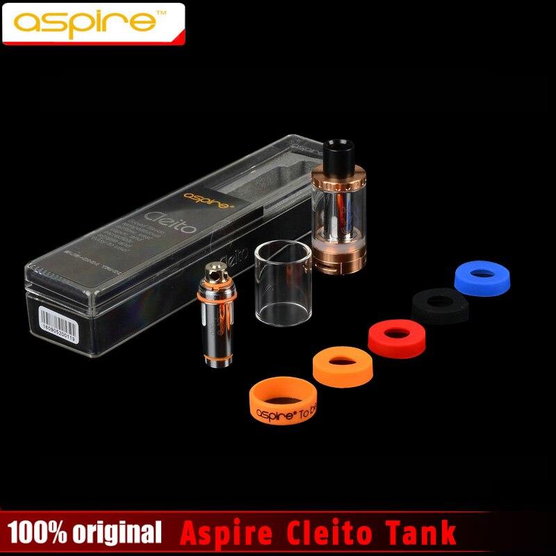 100 Original Aspire Cleito Sub Ohm Tank Kit 3 5ml Aspire Cleito Tank Corlorful Cleito Cuffs