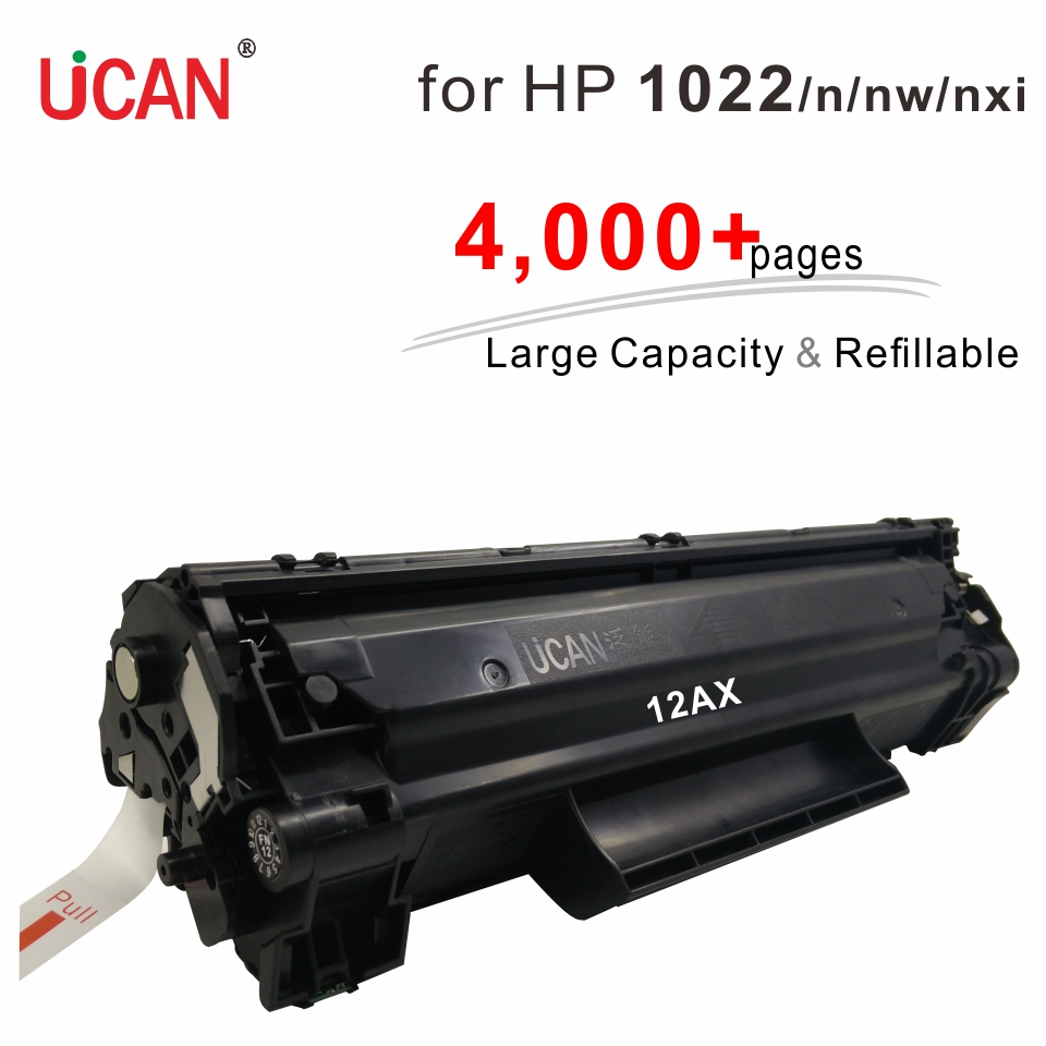 4000 pages Large Capacity Refillable Toner 12a Q2612a Cartridges compatible Hp LaserJet 1022 1022n 1022nw 1022nxi Printer