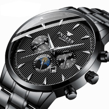 купить Black watch male student sports quartz watch waterproof fashion non-mechanical watch new men's watch men дешево