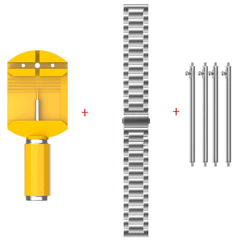 New Arrive Silver Universal Stainless Steel Watch Strap Bands,4pc watch Connector ,1pc Tool 22mm/20mm/18mm