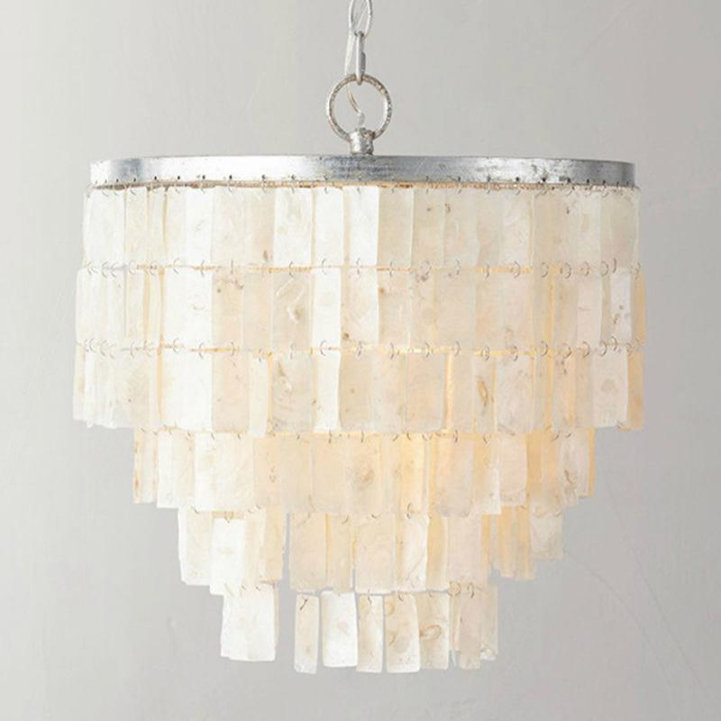 Modern Simple Mediterranean Sea Shell Restaurant Chandelier Prototype Room Lamps And Lanterns The Study Childrens Princess