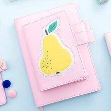 Получить скидку Lovedoki Симпатичные кожаный чехол ноутбук A5A6 планировщик Личный Дневник для девочек подарок корейский каваи канцелярские школьные принадлежности