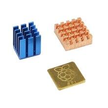 Малина Pi 3 радиатора Алюминий и Медь с логотипом Процессор охлаждения радиаторами Pad dissipador для Raspberry Pi 3 2 модели B