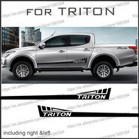 car decals 2 PC body rear tail side graphic vinyl car accessories sticker custom for mitsubishi l200 triton pickup