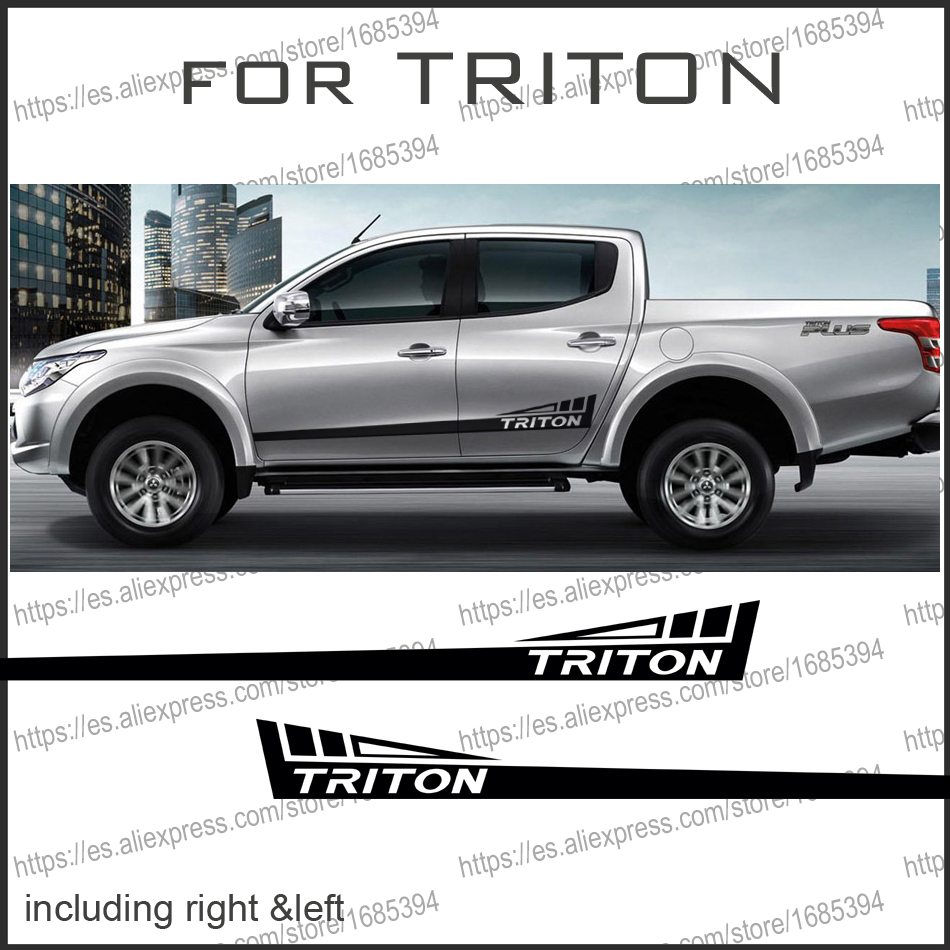 free shipping 2 PC body rear tail side graphic vinyl for side sticker decal mitsubishi l200 triton pickup high quality chrome tail light cover for mitsubishi l200 triton free shipping