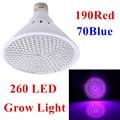 4pcs/Lot 26W 190Red:70Blue 260 SMD 110V/220V E27 LED Grow Light Lamp For Flowering Plant Hydroponics System Wholesale