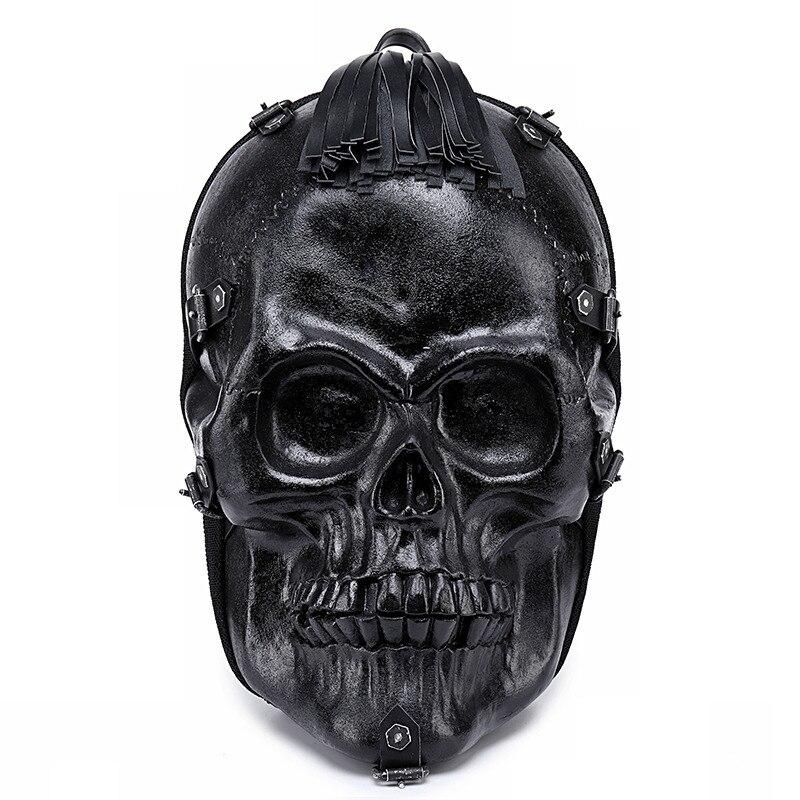 Locomotief persoonlijkheid 3D schedel mannen rugzak creatieve grappige rugzak vrouwelijke tas hip hop rock trend cool knappe 3D afdrukken