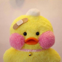 LaLafanfan 25cm Kawaii Yellow Duck Plush Toy Cute Small Duck Stuffed Doll Soft Animal Dolls Kids