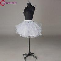 White Black Tulle Girls Petticoat Slip With No Hoop Short Underskirt For Ball Wedding Dress