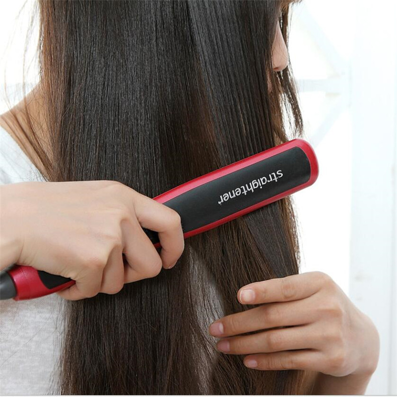 Electric Hair Straightener Brush Ceramic Fast Heating Meluruskan Comb Straighter Salon Styler Hairdressing Straightbrush Lurus
