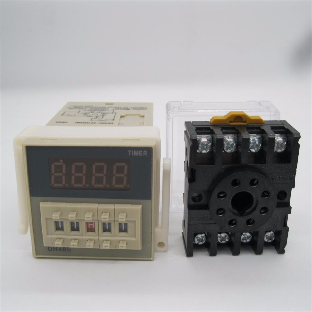 Time Delay Module 110VAC O111ROM DH48S-2ZH LCD Digital Time Relay Module 8 Pin Timer Delay Device 0.01S-99H99M